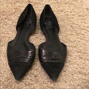 Vince Canute Black Flats Size 9